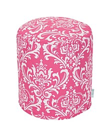 """French Quarter Ottoman Round Pouf with Removable Cover 16"""" x 17"""""""