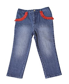 Toddler Girls Pull Denim Pant