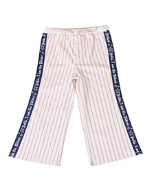 Toddler Girls Stripe Denim Pant