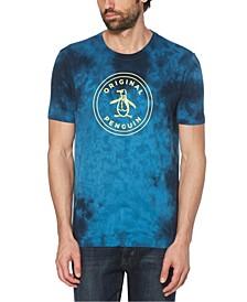 Men's Tie Dye Stamped Circle Pete Short Sleeve T-Shirt