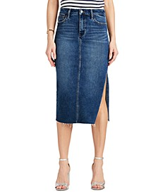 The Maribelle Side-Slit Denim Skirt