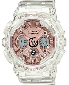 Women's Analog-Digital Clear Resin Strap Watch 45.9mm