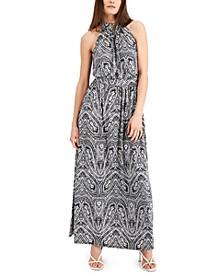 INC Paisley-Print Halter Maxi Dress, Created for Macy's