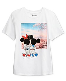 Juniors' Mickey & Minnie Graphic T-Shirt