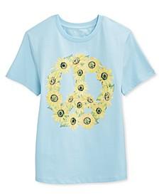 Juniors' Sunflower Peace T-Shirt