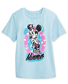 Juniors' Airbrushed Minnie Mouse Graphic T-Shirt