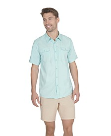 Men's 3 Pocket Sun Protection Button Down Performance Shirt