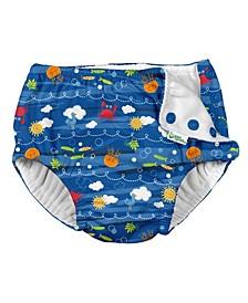 Toddler Boy Snap Reusable Absorbent Swimsuit Diaper