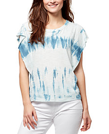 WILLIAM RAST Ruffled Tie-Dyed Top