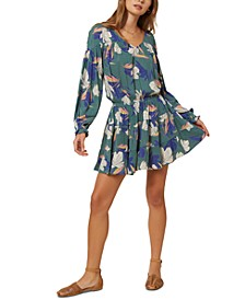 Juniors' Amaryn Floral-Print Mini Dress