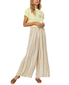 Juniors' Anthia Striped Wide-Leg Pants
