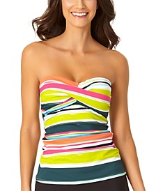 Twist Bandeau Tankini Top