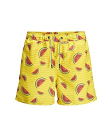 Jack and Jones Men's  All Over Printed Recycled Swim Shorts