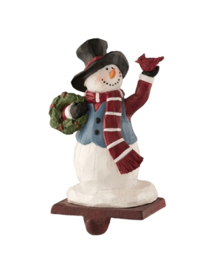 Belleek Pottery Top Hat Snowman Stocking Holder