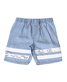 Toddler Boys Pull On Chambray Shorts