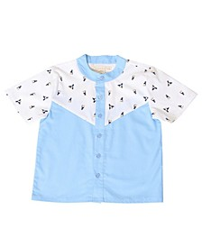 Toddler Boys Toucan Button Up Short Sleeve Shirt