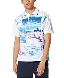 Men's Vintage-Fit Printed Polo Shirt