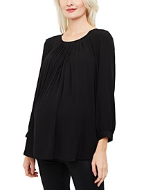 Maternity Pleated Top