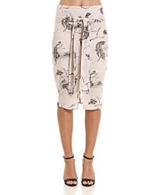 Wild Tiger Midi Skirt