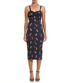 Peek-A-Boo Print Short Dress