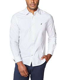 Men's Classic-Fit Stretch Dot-Print Shirt