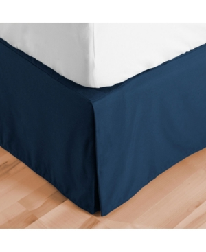 Bare Home Double Brushed Bed Skirt, Full Xl Bedding In Navy