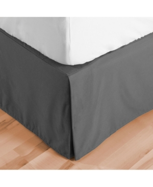 Bare Home Double Brushed Bed Skirt, Full Xl Bedding In Gray