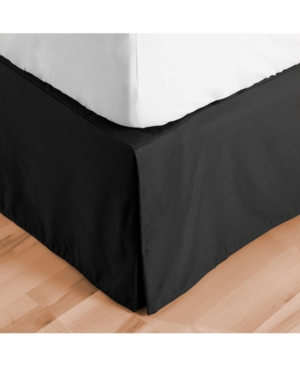 Bare Home Double Brushed Bed Skirt, Full Xl Bedding In Black