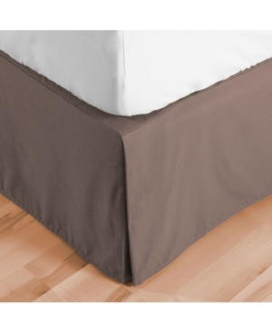 Bare Home Double Brushed Bed Skirt, Queen Bedding In Taupe