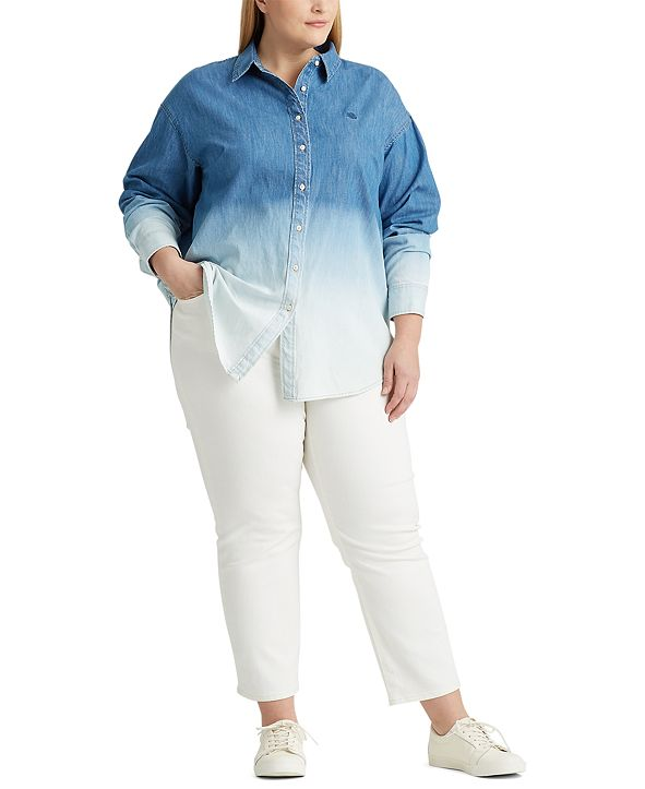 Lauren Ralph Lauren Plus Size Denim Shirt