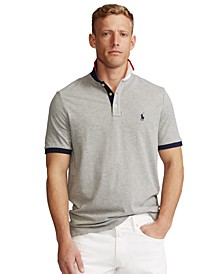 Men's Custom Slim-Fit Mesh Polo Shirt