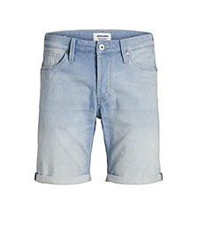 Men's Indigo Knit Denim Shorts