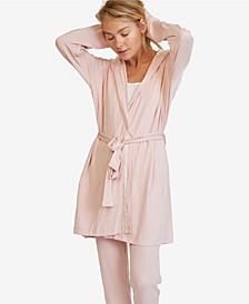 Women's Hooded Jersey Robe and Pants Loungewear