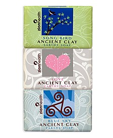 Songbird + Love Soap + Blue Sky Clay Soap Bundle 6 oz each