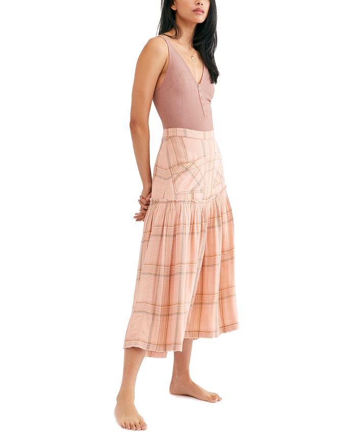 Free People - Plaid Fever Midi Skirt