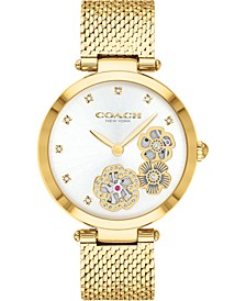 Women's Park Gold-Tone Stainless Steel Mesh Bracelet Watch, 34mm