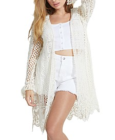 Lilja Crocheted Open-Front Cardigan