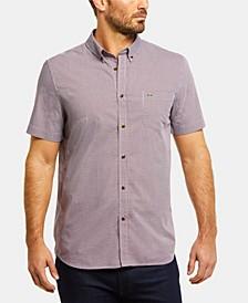 Men's Regular Fit Short Sleeve Gingham Check Poplin Shirt