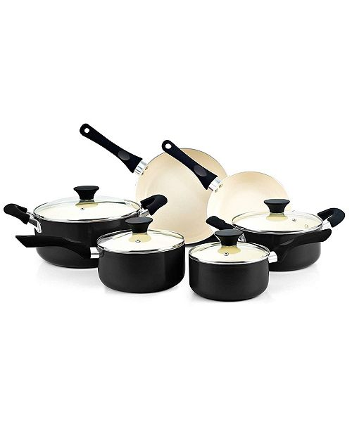 Cook N Home Nonstick Ceramic Coating Cookware Set, 10 Piece