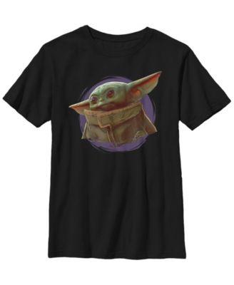 Star Wars The Mandalorian Big Boys The Child Smoke Short Sleeve T-shirt