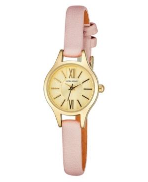 Women's Petite Case Pink Polyurethane Strap Watch 23mm