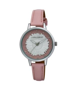 Women's Sunflower Dial Strap Pink Polyurethane Watch 38mm