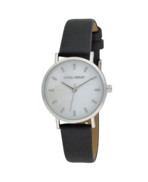 Women's Slim Clean Black Polyurethane Strap Watch 34mm