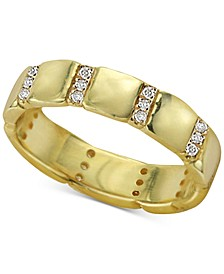 Cubic Zirconia Stack Ring in 18k Gold-Plated Sterling Silver
