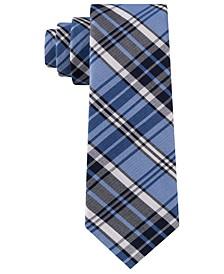 Men's Track Plaid Silk Slim Tie