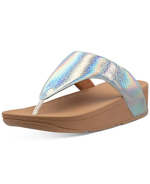 FitFlop Lottie Iridescent Scale Thong Sandals