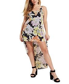 Taryn Skirt-Back Floral-Print Romper