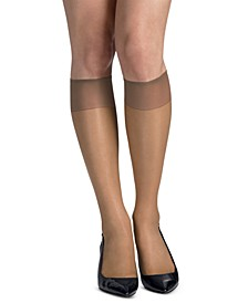 Women's 6-Pk. Slik Reflections Sheer-Toe Knee Highs