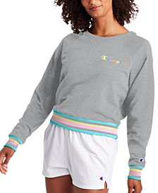 Women's Campus Varsity-Stripe Sweatshirt