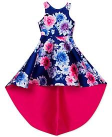 Big Girls Floral High-Low Dress